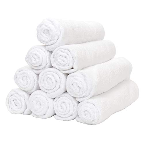 Smart Choice Microfiber Towel Pack of 12 (16 x 27 inch, White)