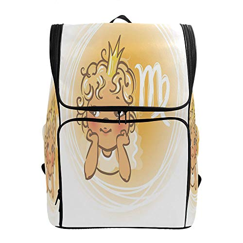SCOCICI Printed Bookbag,Baby Zodiac Representation,Tear Resistant School Bag