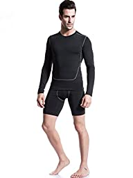 Neleus Men\'s Performance Shorts 3 Pack,Black,US M,Aisa Tag L