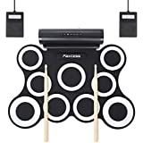 PAXCESS 9 Pads Electronic Drum Set  Electric Drum Set with Headphone Jack  Built in Speaker and Battery  Drum Stick  Foot Pedals  Best Gift for Christmas Holiday Birthday