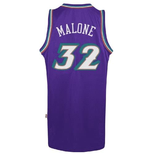 Karl Malone Utah Jazz Adidas NBA Throwback Swingman