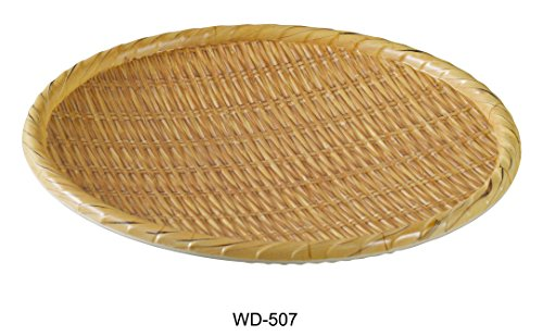Yanco WD-507 Round Wooden Tray, 7'' Diameter, Melamine, Pack of 36 by Yanco
