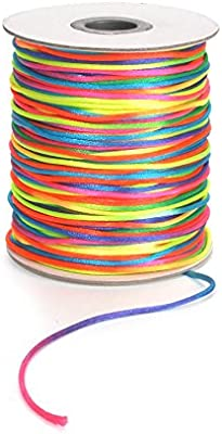 Darice 2mm White Rattail Cord for Crafts 144 yds 100/% Nylon Satin FREE US SHIP