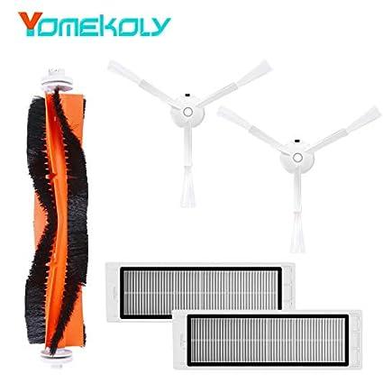 Vacuum Cleaner Parts Vacuum Cleaner Spare Parts For Xiaomi Roborock Mi Robot Kits 2pc Filter 2pcs Side Brush 1pc Main Brush 1pc Virtual Magnetic Wa