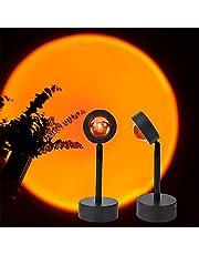 Zonsondergang Lamp, 180 ° Led Licht Projectie Lamp, Romantische Visuele Nachtlampje Lamp met USB voor Home Party Fotoshoot Woonkamer Slaapkamer Decor Gift Bruiloft Verjaardag Party Moeders Dag Geschenken