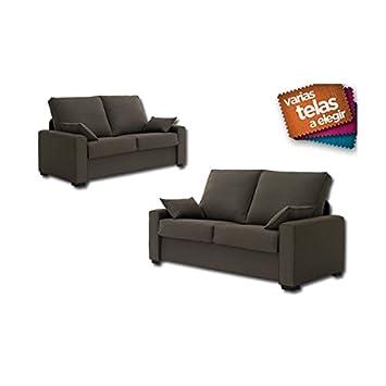 SHIITO Conjunto de sofás Tres y Dos plazas tapizado en Tela ...