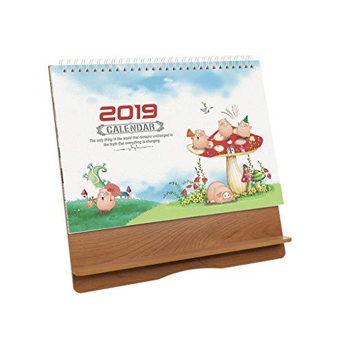 2019 Calendarios de Madera Calendarios de Mesa de Bricolaje Oficina de Creative Plan de Escritorio Calendario Diario...