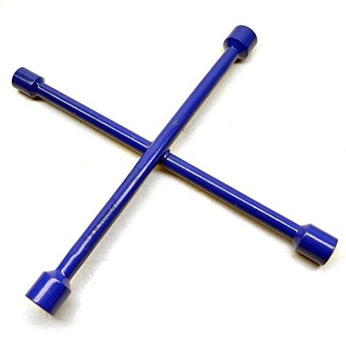 4 Way Cross Wheel Brace Nut Wrench / Spanner Tire Iron 17-19-21-23mmm (Cross Brace Tires)