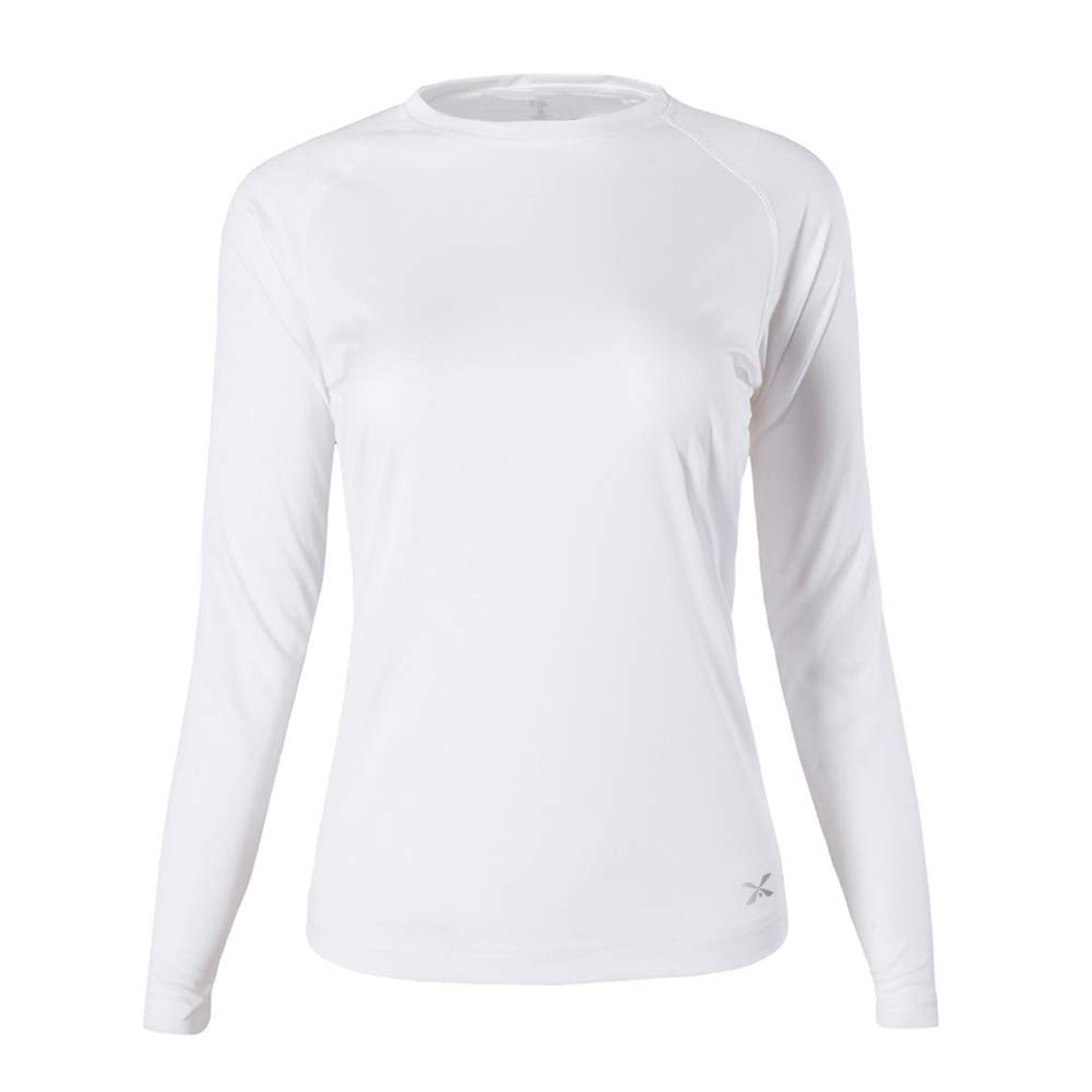 Womens UPF 50 Sun Protection Long Sleeve Performance Active Top Shirts Fitness Workout Running Sports Leisure T-Shirt