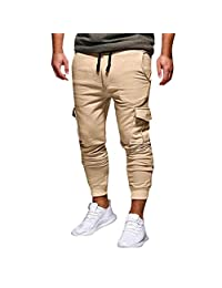 Realdo Fashion Men's Sport Fitness Casual Loose Sweatpants Jogger Pant