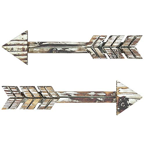 TreasuresDeck Wooden Arrow Wall Decor - Set of 2