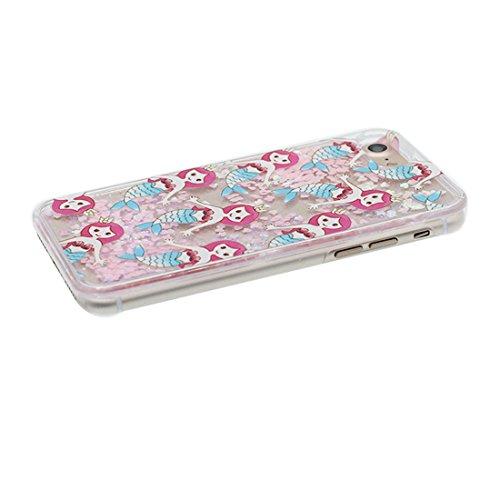 """iPhone 6 Plus Coque, iPhone 6s Plus étui Cover 5.5"""", Sirène Mermaid Bling Bling Glitter Fluide Liquide Sparkles Sables, iPhone 6 Plus Case 5.5"""", Shell anti- chocs et Bouchon anti-poussière"""