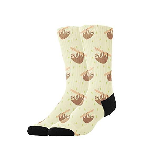 Colomake Lazy Cute Funny Sloths Stockings Breathable Hiking Socks Classics Socks For Men Women Teens Kids Boys Girls Unisex -