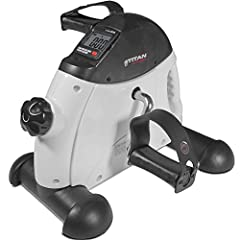 Burn extras calories during your productive days at work or while watching TV.  The Titan Fitness Mini Exercise bike can easily be used under your desk due to its size and portability.  The LCD displays Time, Distance, and Calories.  This Min...