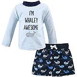 Hudson Baby Unisex Swim Rashguard Set, Whaley Awesome, 18-24 Months