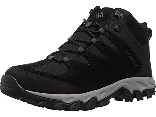 Columbia Men's Buxton Peak MID Waterproof Hiking Boot, Black, Lux, 10 Regular US (Columbia Sportswear Boots)