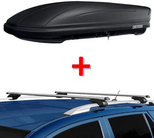 EMMEA 120 CM Barre PORTATUTTO Porta PACCHI da Viaggio Auto Compatibile con Peugeot 2008 5 Porte 2013  2015 Alluminio Portapacchi