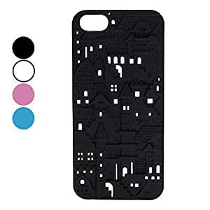LCJ Carve Building Patterns Hard Case for iPhone 5/5S (Assorted Colors) , White