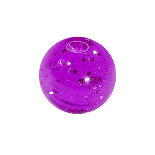 Body Candy 5mm Purple Glitter Acrylic Captive Bead Ring Replacement (Glitter Acrylic Captive Bead Ring)