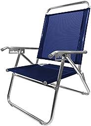 Cadeira Alumínio King Reclinável 140 Kg 5 Posições Marinho Zaka Super Resistente
