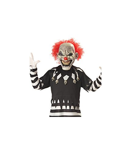 Creepy Clown Boy's Costume, X-Large, One (Clowns Scary Costumes)