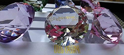Oleg Cassini Colorful Crystal Paperweights, Set of Three