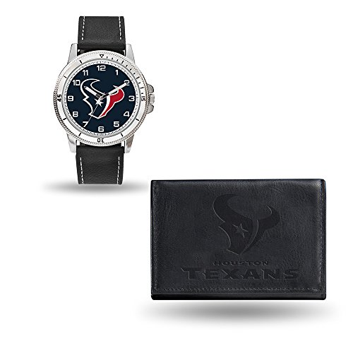 Rico NFL Men's Watch and Wallet Set WTWAWA0601, Houston Texans