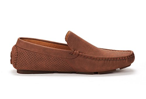 Brown Penny Loafers Moccasins YORK Men's NEW 3251314 MARC Shoes BRUNO XqzZPxx