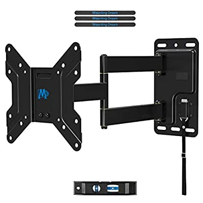 """Mounting Dream Lockable RV TV Mount for 17-39"""" Flat Screen TV, RV Mount on Camper Motor Home Marine Boat Truck, Full Motion Unique One Step Lock Design RV TV Wall Mount, 200mm VESA 44 LBS MD2210"""