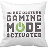 Funny Gamer Pillow Case 18 x 18 Inches for Video Games Geek Gaming Pro