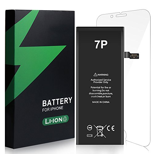Energy Tech iPhone 7 Plus Battery Replacement Kit 2900mAh Li-Ion with Repair Tools Set Adhesive Stripes and Screen Protector for Models A1661, A1784, A1785