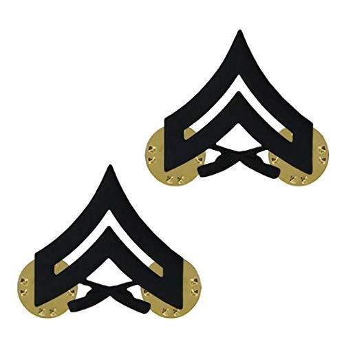 USMC Black Enlisted Rank Insignia (Cpl) ()