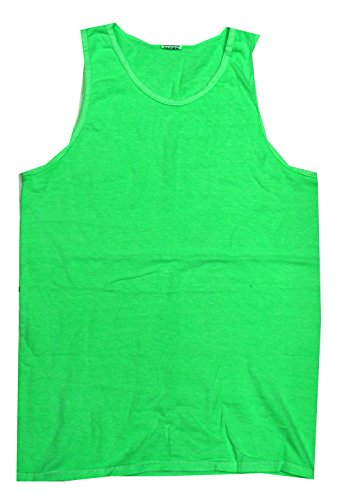 (Colortone Pigment Dyed Tank Top XL Neon Green)