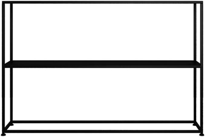 Family History Tabla De Consola, Nordic Puerta De Entrada Sofá Tabla De Usos Múltiples Hierro Forjado Estante De Habitación Sala Vestíbulo De La Oficina Foyer,Negro,80x25x80cm
