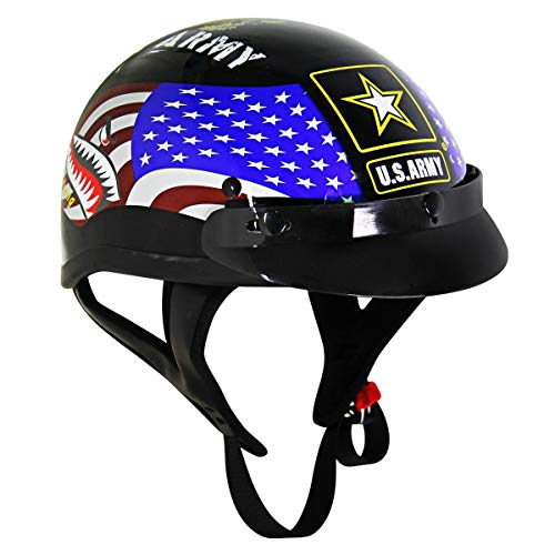 Outlaw T70 'Army' Officially Licensed Motorcycle Half Helmet - 2X-Large