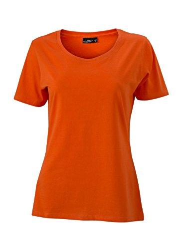 Ladies' Basic-T - Damen T-Shirt, Größe:S;Farbe:dark-orange