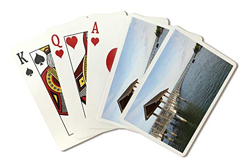 (Bellingham, Washington-Boulevard Park Pier-Photography A-92215 (Playing Card Deck - 52 Card Poker Size with Jokers))