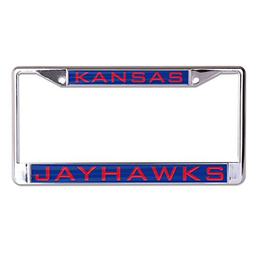 WinCraft NCAA Kansas Jayhawks Inlaid Metal License Plate Frame, 2-Tag Corners