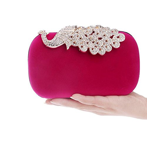 Shoulder Bag Diamand Clutch Femmes Red Wedding Nuptiale Ladies Prom Sparkly Fête Rose Soirée NAOMIIII Des RAqFA