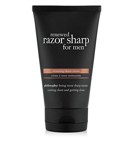 philosophy renewed razor sharp for men cleansing shave cream, 5 Fl Oz - Men Cleansing Cream