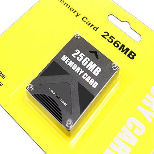 SANDIN 256 MB Tarjeta de Memoria para Sony Playstation 2 PS2 128 m, Color Negro