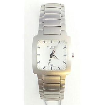 Uhr Longines Damen l35074726 Quarz (Batterie) Stahl Quandrante Silber Armband Stahl