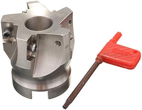 Queenwind BAP 400R 鉄道用-50-22-5F 50mm 5 刃 APKT 1604 の挿入のための索引があるエンドミルのカッター
