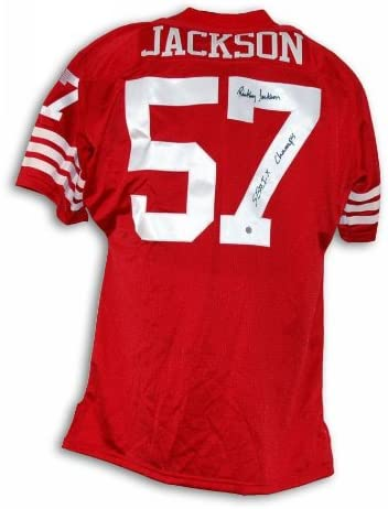 Rickey Jackson San Francisco 49ers Autographed Red Throwback ...