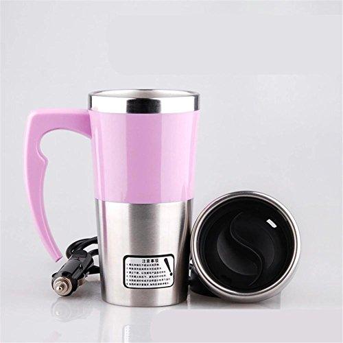 Bouilloire, pour voiture Eclaircissante à vapeur de 12 volts chauffer un verre isolant sous vide en acier inoxydable portable