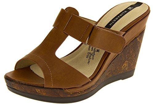 Damen Studio Keil Elisabeth T Sandalen Braun Footwear Bar 71OzFqnO