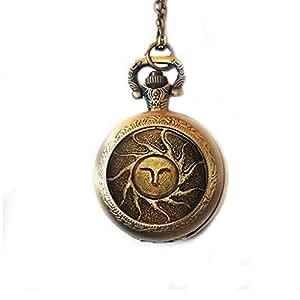 Sol Reloj de bolsillo collar sol reloj collar, colgante collar regalo
