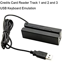 MSR90 USB Swipe Magnetic Credit Card Reader 3 Tracks Mini Smart Card Reader MSR605 MSR606 Deftun