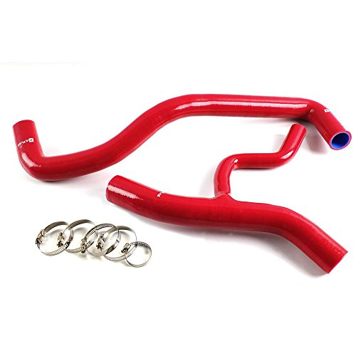 High Temp Silicone Radiator Coolant Hose Kit Clamps Piping For 1996-2004 FORD MUSTANG GT 4.6L V8 Red