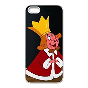 iPhone 4 4s Cell Phone Case White Disney Alice in Wonderland Character The King of Hearts 003 YE3390489